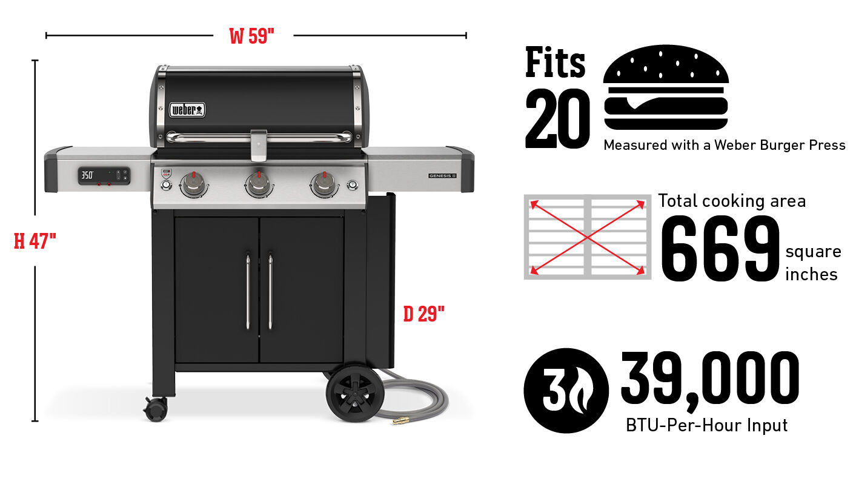 Barbecue connecté GenesisIIEX-315 (gaz naturel)