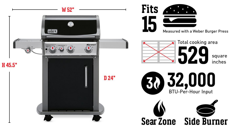 Barbecue au gaz Spirit E-330