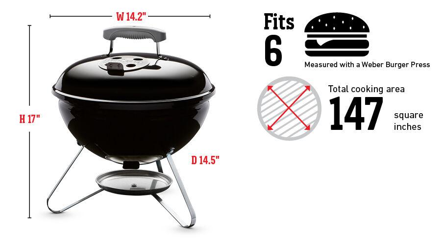 Barbecue au charbon Smokey Joeᴹᴰ 14 po