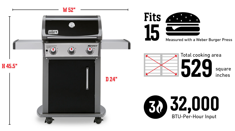 Barbecue au gaz Spirit E-310