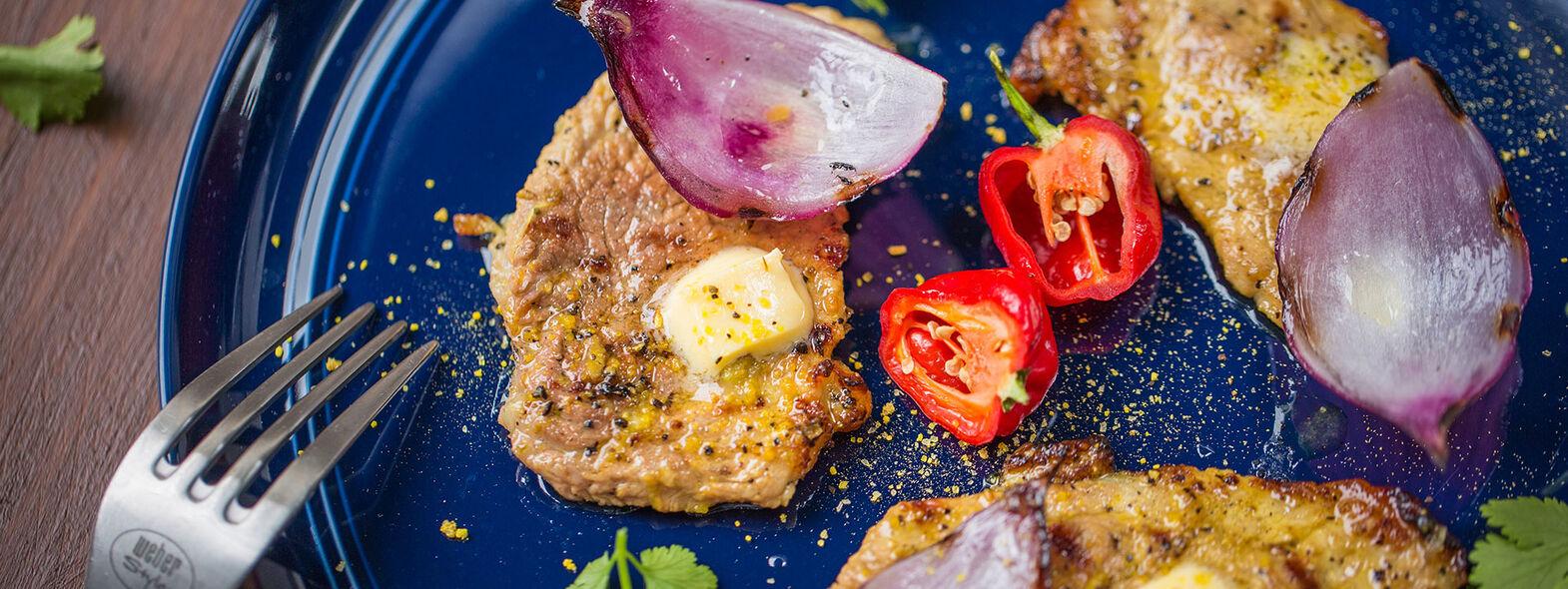 Steaks de Cerdo al Limón