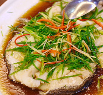 Steamed Cod Fish in Superior Sauce