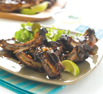 Glazed Pork Spare Ribs with Sweet Ginger and Soy