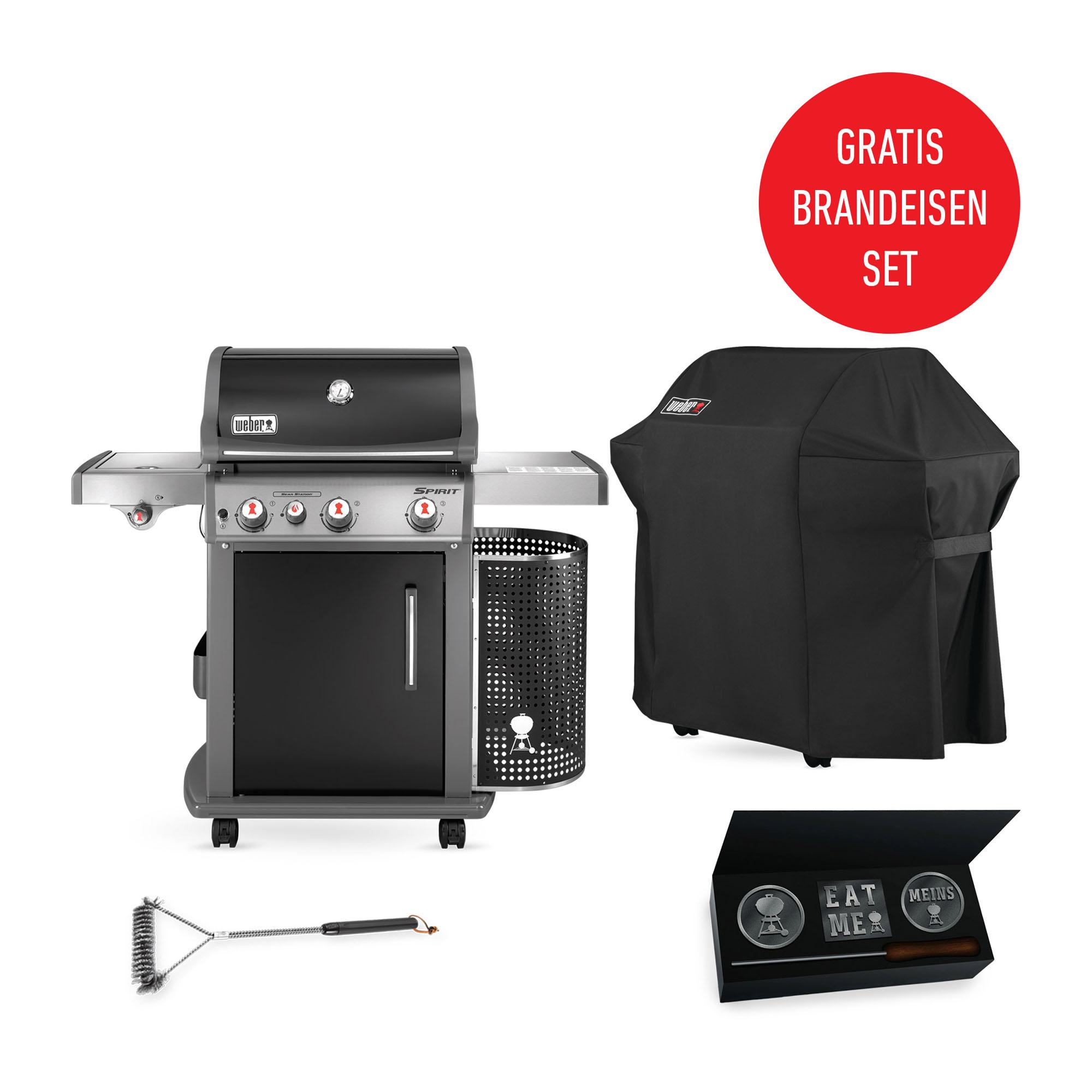spirit e 330 premium gbs grill in black weber grill original. Black Bedroom Furniture Sets. Home Design Ideas