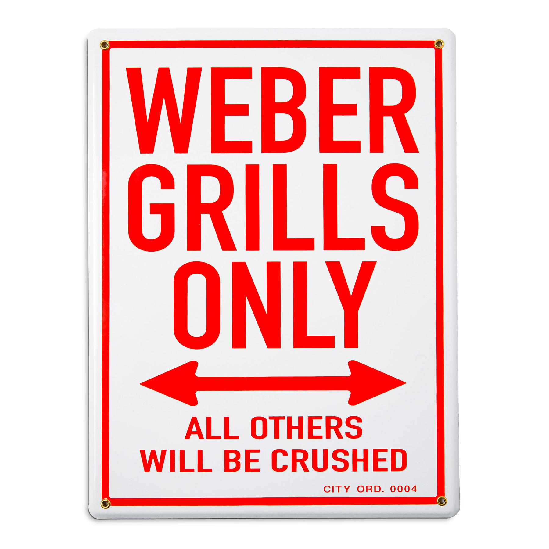 Enamel Sign