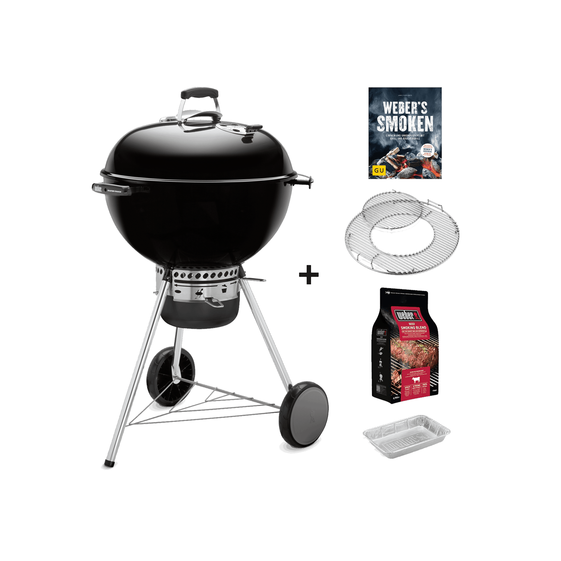 Master-Touch GBS Special Edition Pro – Holzkohlegrill + Räucher-Starter-Set