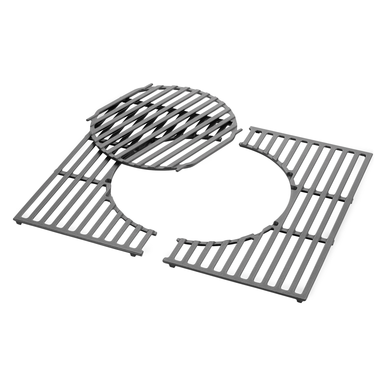 grillrost mit grillrosteinsatz gourmet bbq system aus. Black Bedroom Furniture Sets. Home Design Ideas