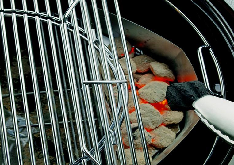 klappbarer edelstahl grillrost 47cm weber grill original. Black Bedroom Furniture Sets. Home Design Ideas