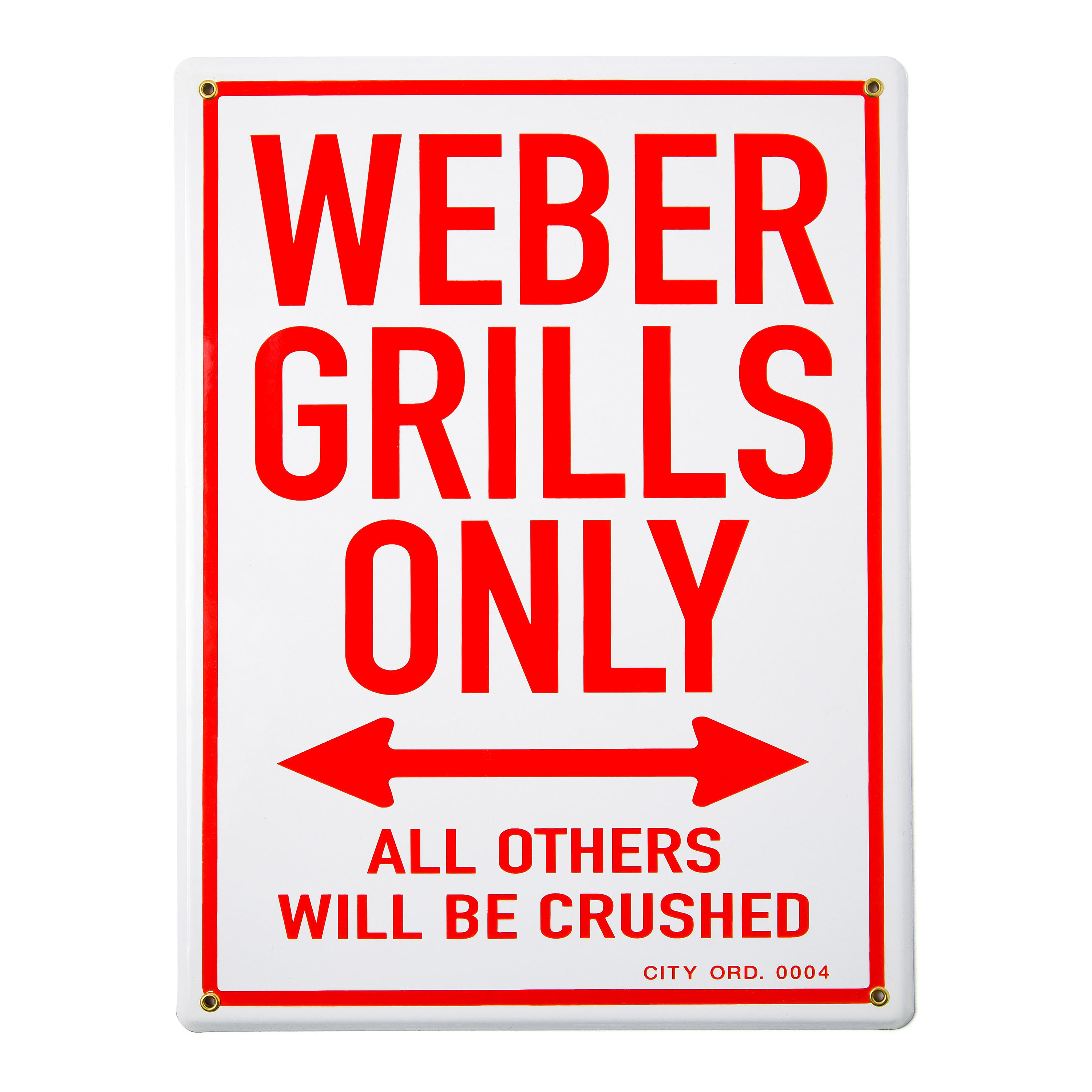 "Emaille Schild ""Weber Grills only"""