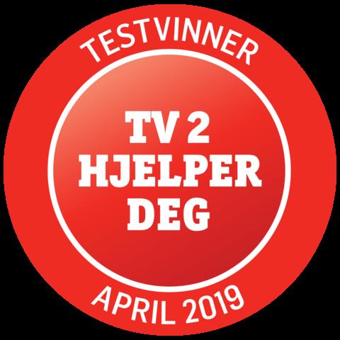 Vinner - test av bærbare griller, TV 2 Hjelper Deg, april 2019.