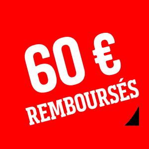 60 € remboursés
