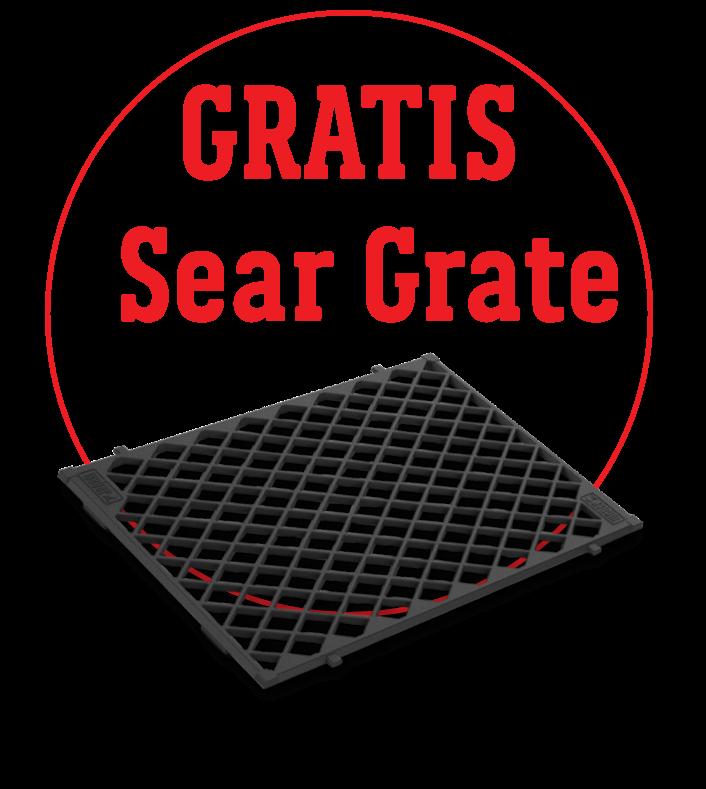 Gratis Sear Grate für jeden Genesis II LX mit 4 und 6 Brennern