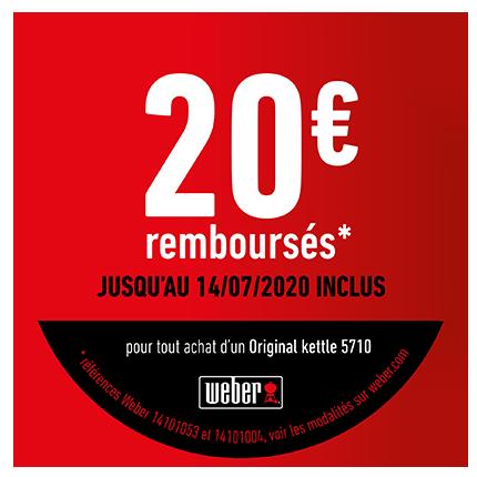 20 € remboursés